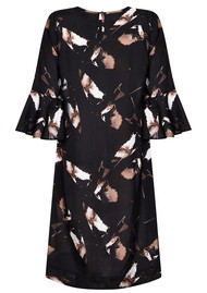 NOOKI Zoey Dress - Black Winter Swallow