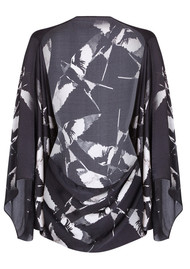 NOOKI Silk Cape - Black Winter Swallow