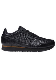 WODEN Ydun Metallic Trainers - Black