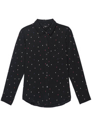 Rails Kate Silk Shirt - Black Rainbow Cactus
