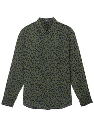 Rails Kate Silk Shirt - Olive Cheetah