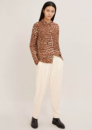 SAMSOE & SAMSOE Milly Long Sleeve Shirt - Leopard