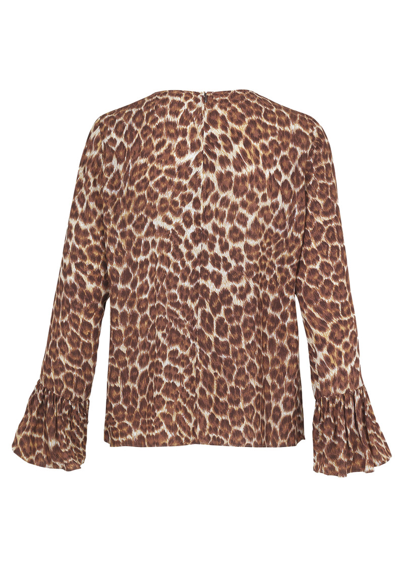 Serena Long Sleeve Top - Leopard main image