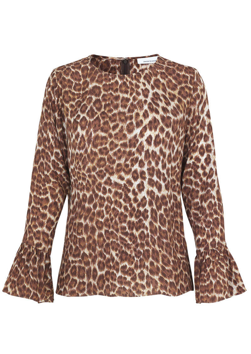 SAMSOE & SAMSOE Serena Long Sleeve Top - Leopard main image