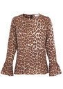 SAMSOE & SAMSOE Serena Long Sleeve Top - Leopard