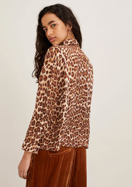 SAMSOE & SAMSOE Ilona Silk Shirt - Leopard
