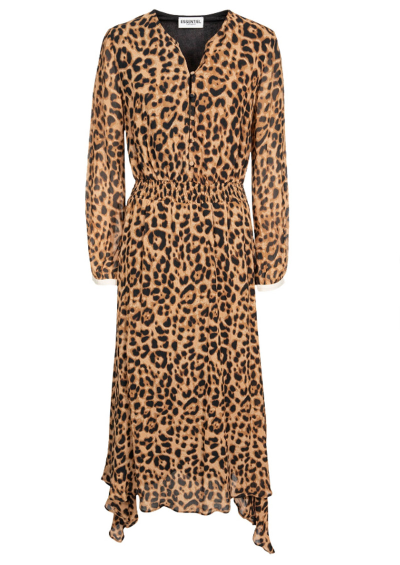 51d04bf7af74 ESSENTIEL ANTWERP Rus Leopard Midi Dress - Combo 1 Black main image ...
