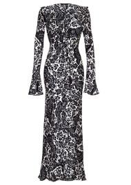 DE LA VALI Tangerine Silk Dress - Oriental
