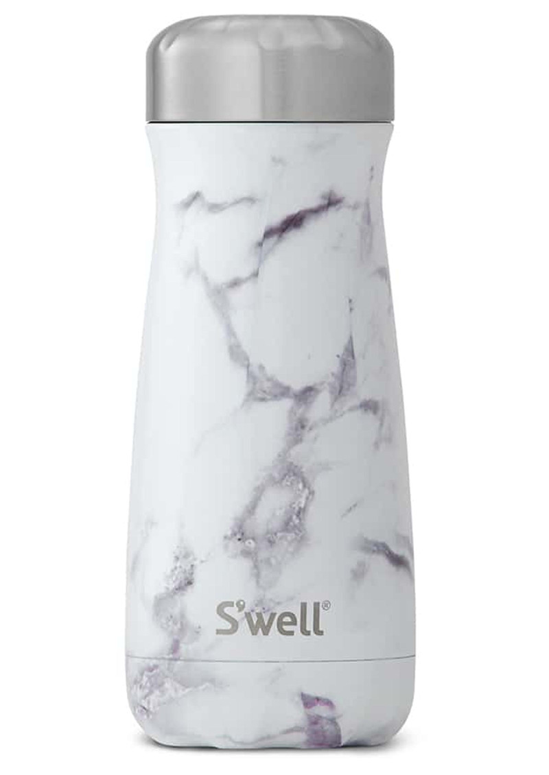 Swell The Elements Traveler 16oz White Marble