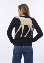 JUMPER 1234 Giraffe Crew Jumper - Black