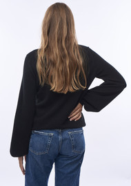 JUMPER 1234 Balloon Sleeve Cashmere Jumper - Black