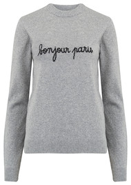 MAISON LABICHE Bonjour Paris Sweater - Heather Grey