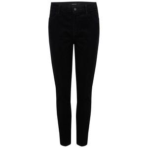 Alana High Rise Cord Skinny Jeans - Black