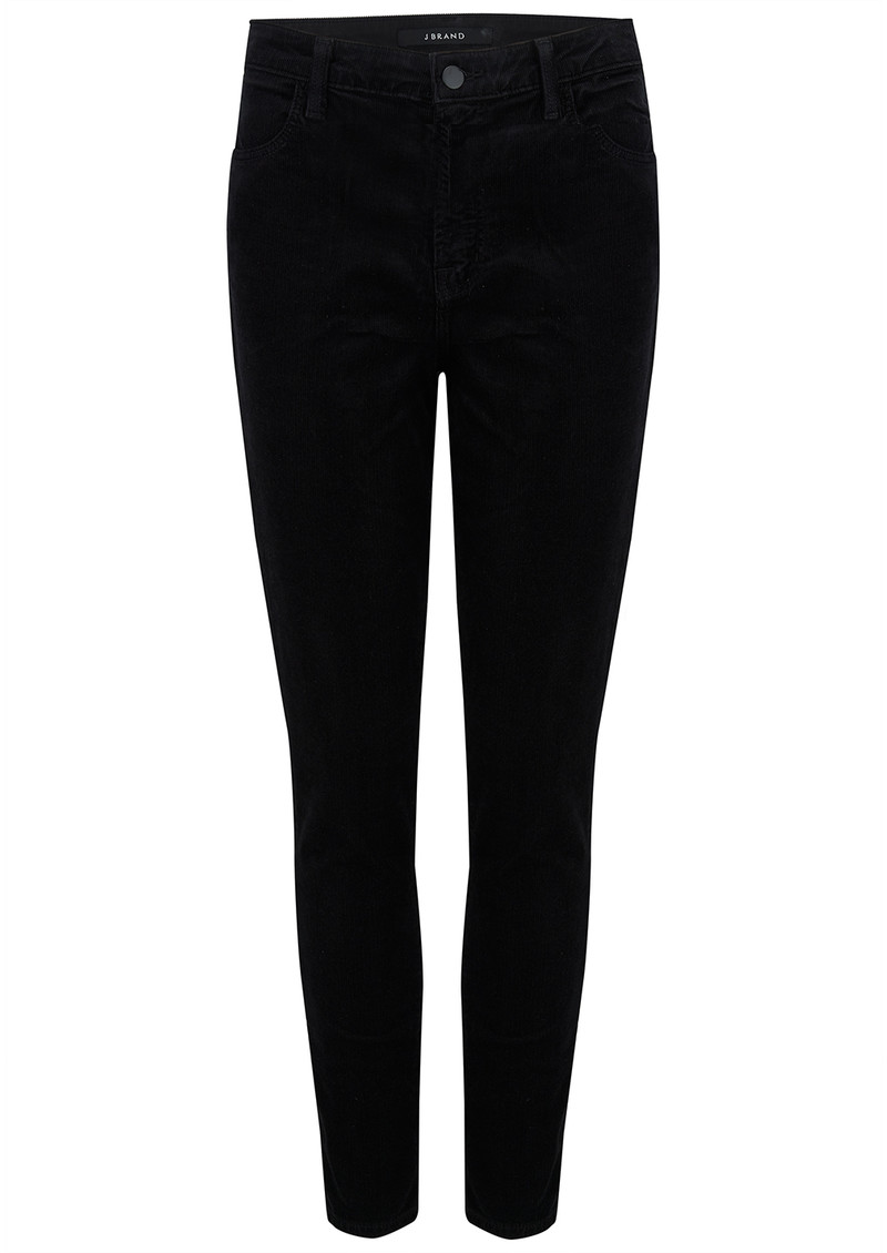 J Brand Alana High Rise Cord Skinny Jeans - Black main image