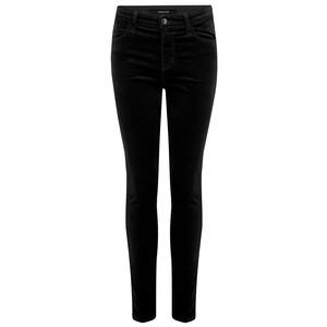 Maria High Rise Velvet Jeans - Black