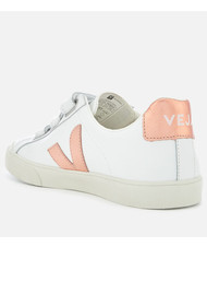 VEJA Esplar 3 Lock Leather Trainers - White Venus