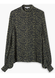 Lily and Lionel Maddox Textured Silk Shirt - Khaki Leopard