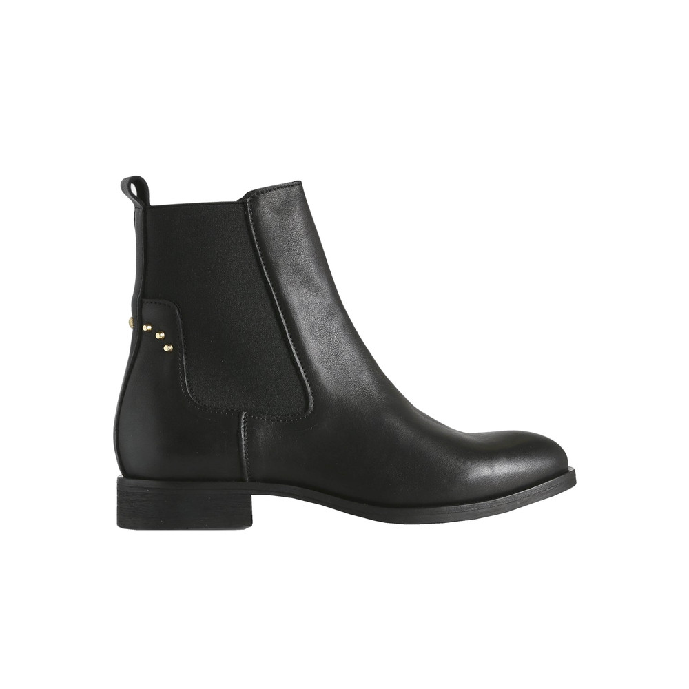 Marla Leather Chelsea Boot - Black