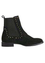 SHOE THE BEAR Marla Studs Suede Chelsea Boots - Black