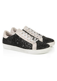 AIR & GRACE Cru Glitter Trainer - Black