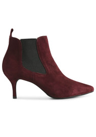 SHOE THE BEAR Agnete Suede Boots - Burgundy