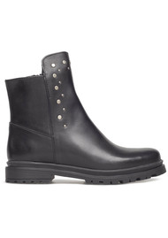 SHOE THE BEAR Akira Leather Stud Boots - Black