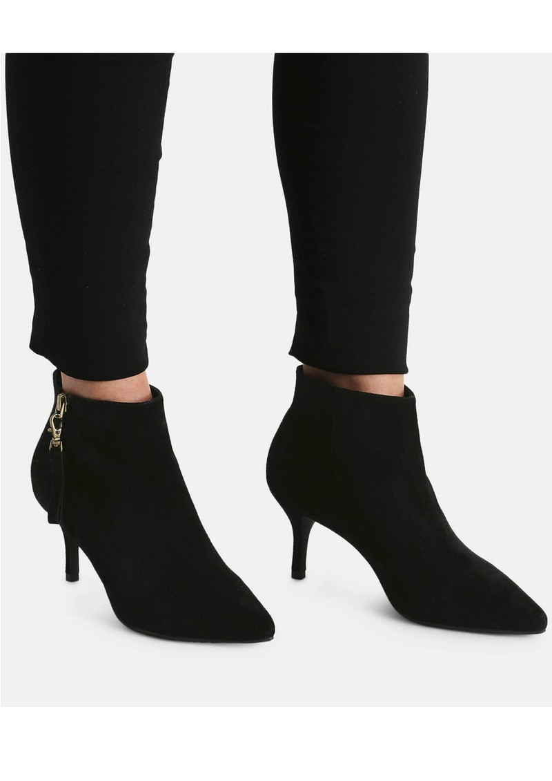 SHOE THE BEAR Agnete Gold Suede Ankle Boot - Black main image