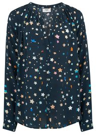 Pyrus Nova Silk Blouse - Painted Stars