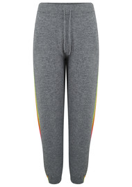 JUMPER 1234 Mexican Side Stripe Cashmere Joggers - Mid Grey