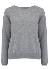 JUMPER 1234 Donegal Sweater - Mid Grey