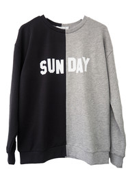 SOUTH PARADE Alexa Boyfriend Sunday Sweatshirt - Grey