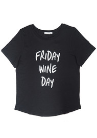 SOUTH PARADE Lola Wine Day T-Shirt - Dark Grey