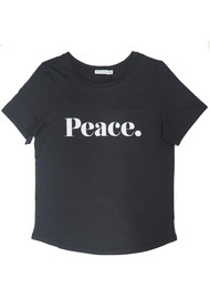 SOUTH PARADE Lola Peace T-Shirt - Dark Grey