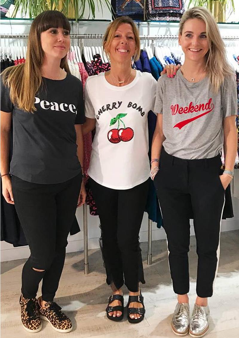 SOUTH PARADE Lola Cherry Bomb T-Shirt - Heather Grey  main image
