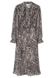 70s Dress - Zebra Putty