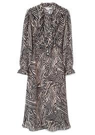 70s Dress - Zebra Putty