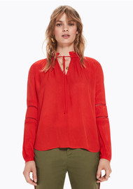 Maison Scotch Tunic Top - Poppy Red
