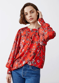 Twist and Tango Edith Blouse - Red Flower