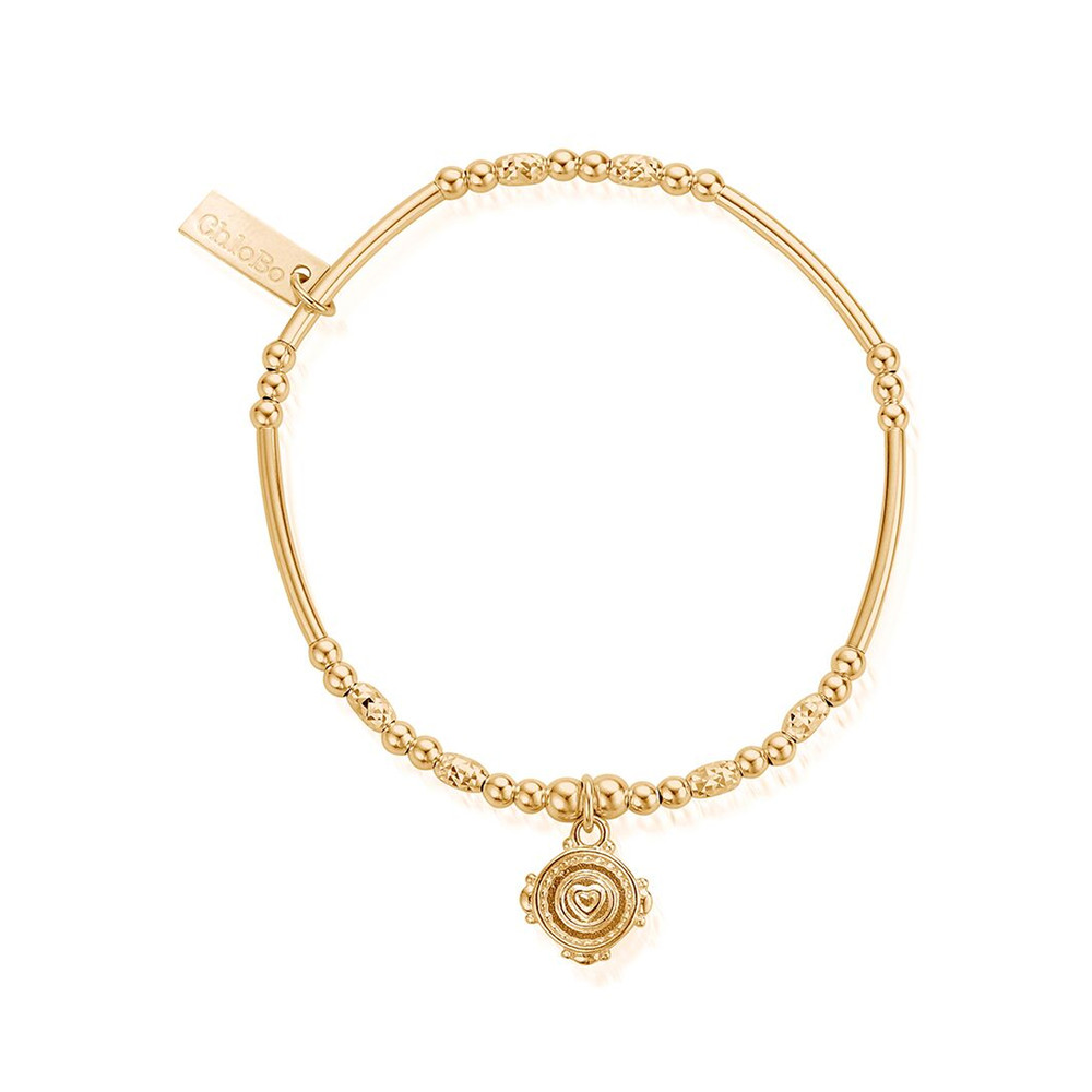 Ariella Love Coin Bracelet - Gold