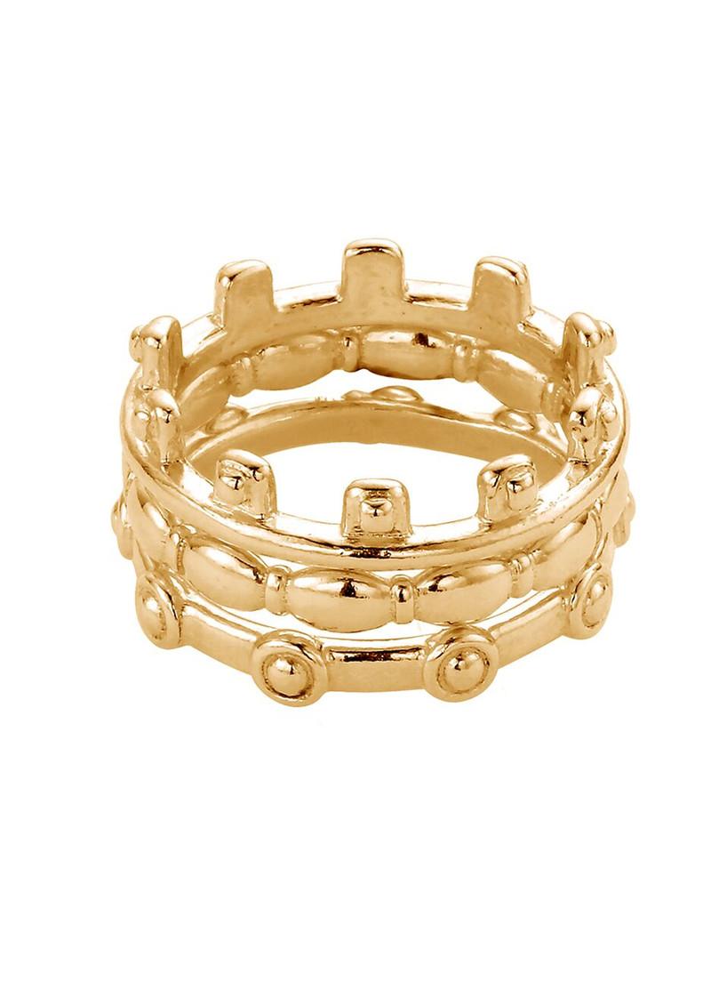 ChloBo Ariella Aura Ring Stack - Gold main image
