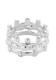 ChloBo Ariella Aura Ring Stack - Silver
