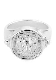 ChloBo Ariella Lioness Signet Ring - Silver