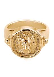 ChloBo Ariella Lioness Signet Ring - Gold