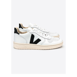 V-10 Leather Trainers - Extra White & Black