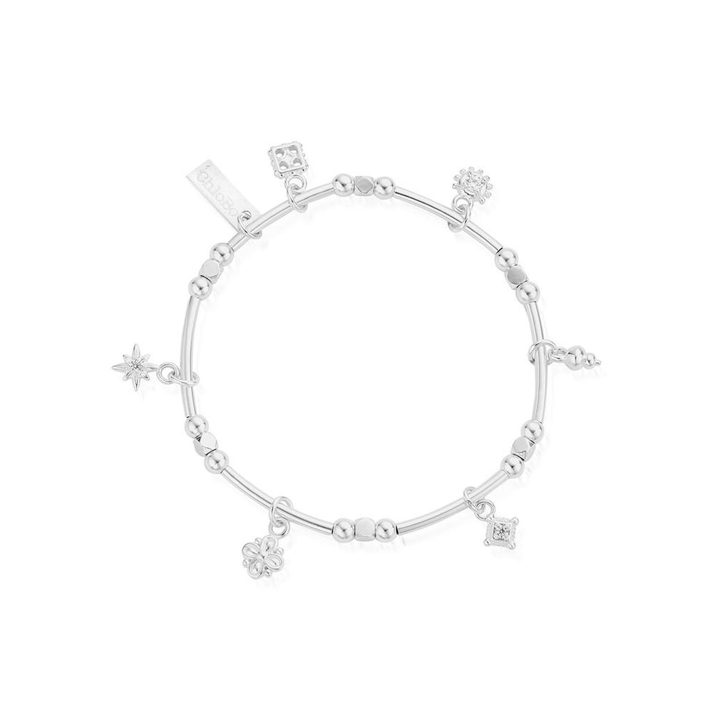 Ariella Entwined Souls Bracelet - Silver