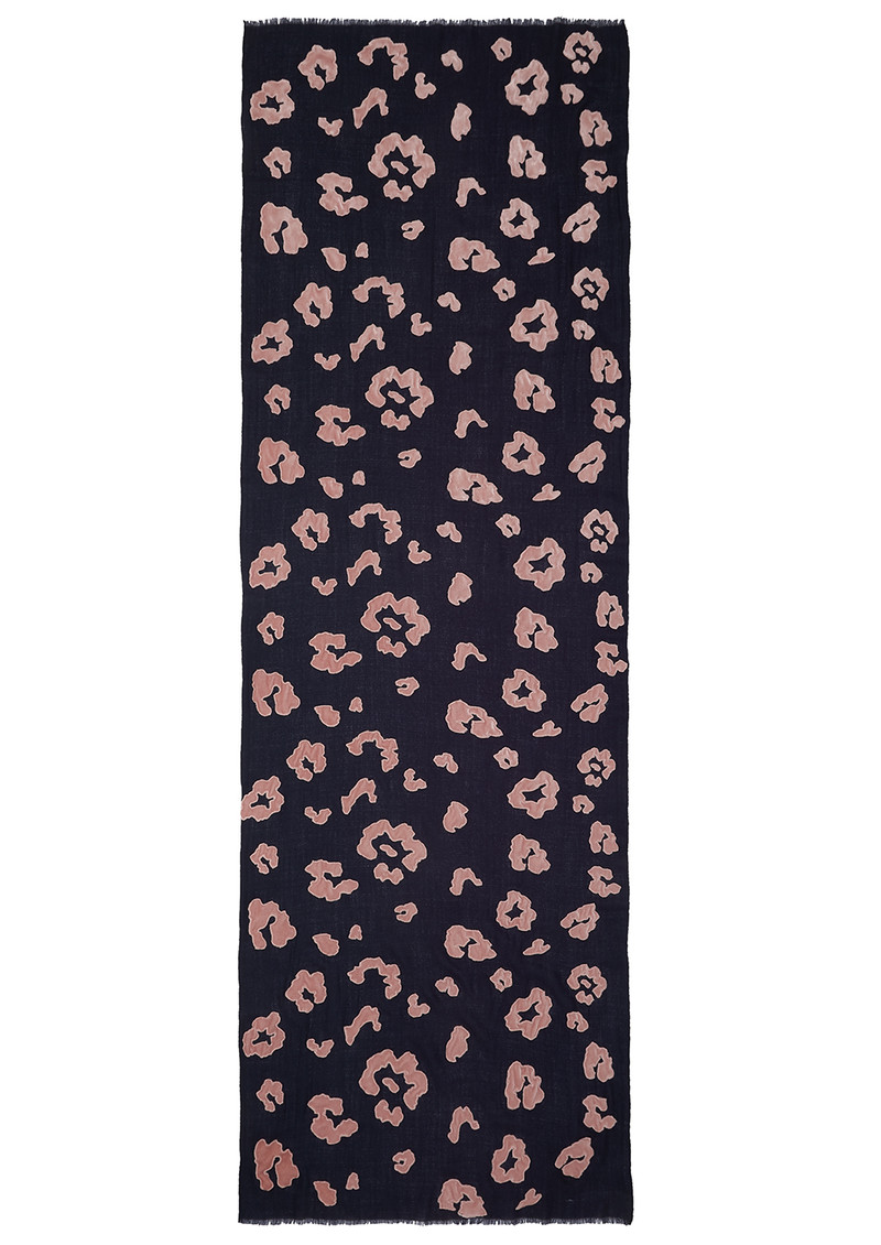 Lily and Lionel Exclusive Roar Scarf - Navy & Nude main image