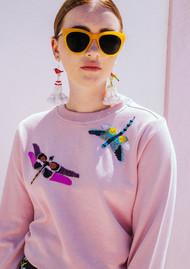 UZMA BOZAI Silvia Dragonfly Sweatshirt - Candy Pink