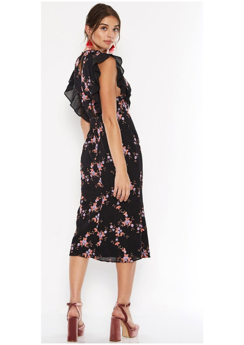 TALULAH Seguro Midi Dress - Black Multi  main image