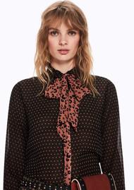 Maison Scotch Print Shirt with Bow - Combo A