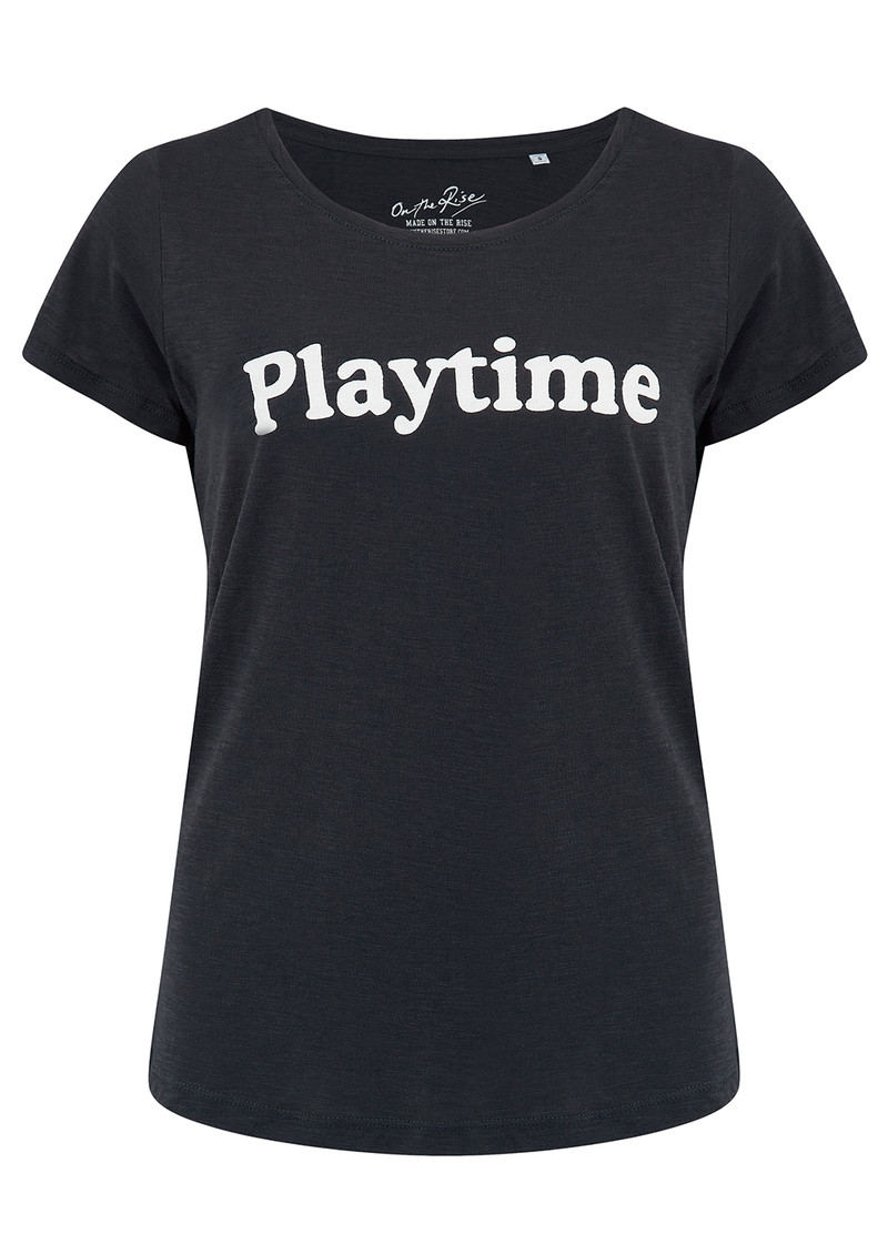 ON THE RISE Playtime Tee - Black & White  main image